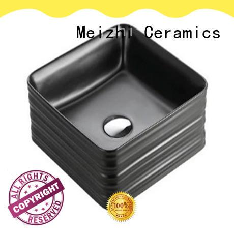 Meizhi modern black sink basin manufacturer for cabinet