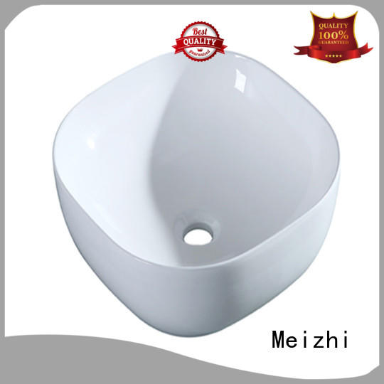 Meizhi white wash basin size wholesale for home