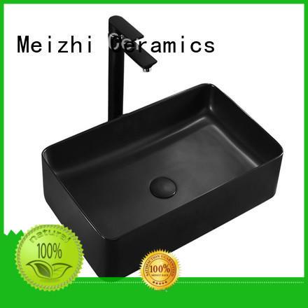 Meizhi modern black basin wholesale for washroom
