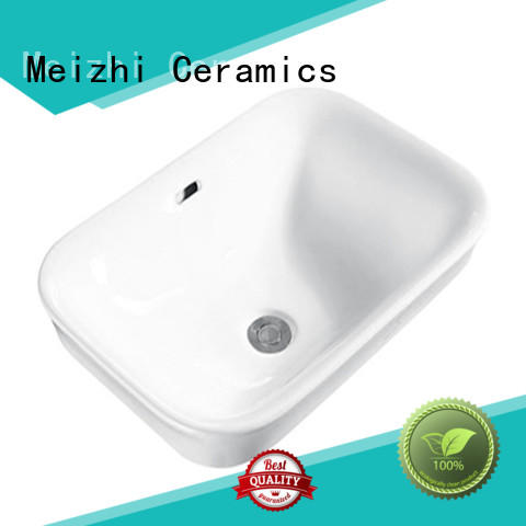Meizhi ceremic table top basin directly sale for hotel