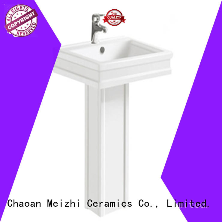 basin and pedestal directly sale for hotel Meizhi