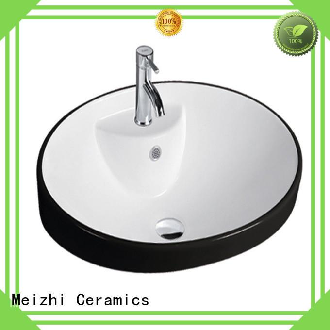 Meizhi modern design round wash basin customized for washroom