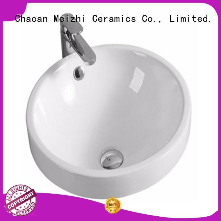 Meizhi popular table top wash basin designs supplier for washroom
