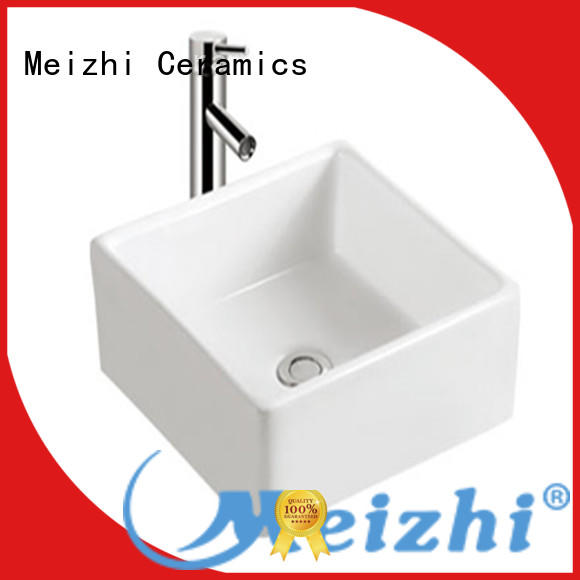 Meizhi white round wash basin wholesale for bathroom