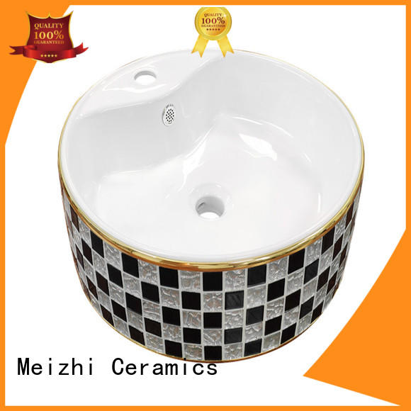 gold ceramic basin factory price for hotel