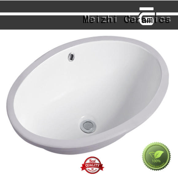 Meizhi ceramic round countertop basin directly sale for hotel