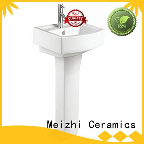 full pedestal wash basin supplier for hotel Meizhi