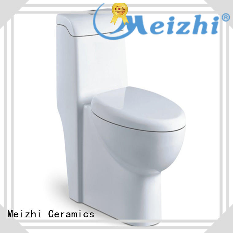 Meizhi one piece elongated toilet customized for hotel