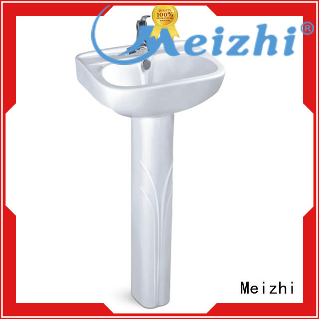 ceremic pedestal wash basin with good price for bathroom