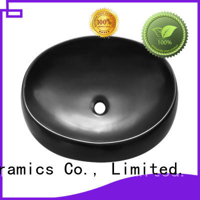 custom design black bathroom sink factory price for cabinet