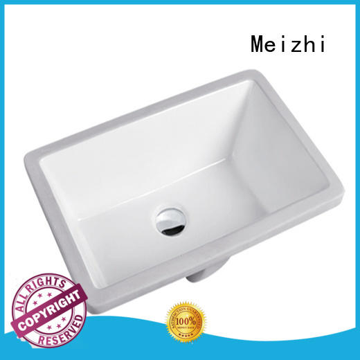Meizhi above counter sink directly sale for hotel