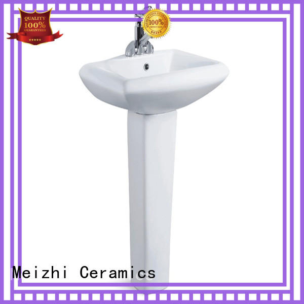 Meizhi high quality corner basin with pedestal supplier for bathroom