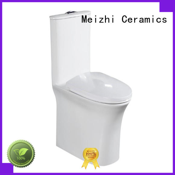Meizhi modern one piece elongated toilet manufacturer for bathroom