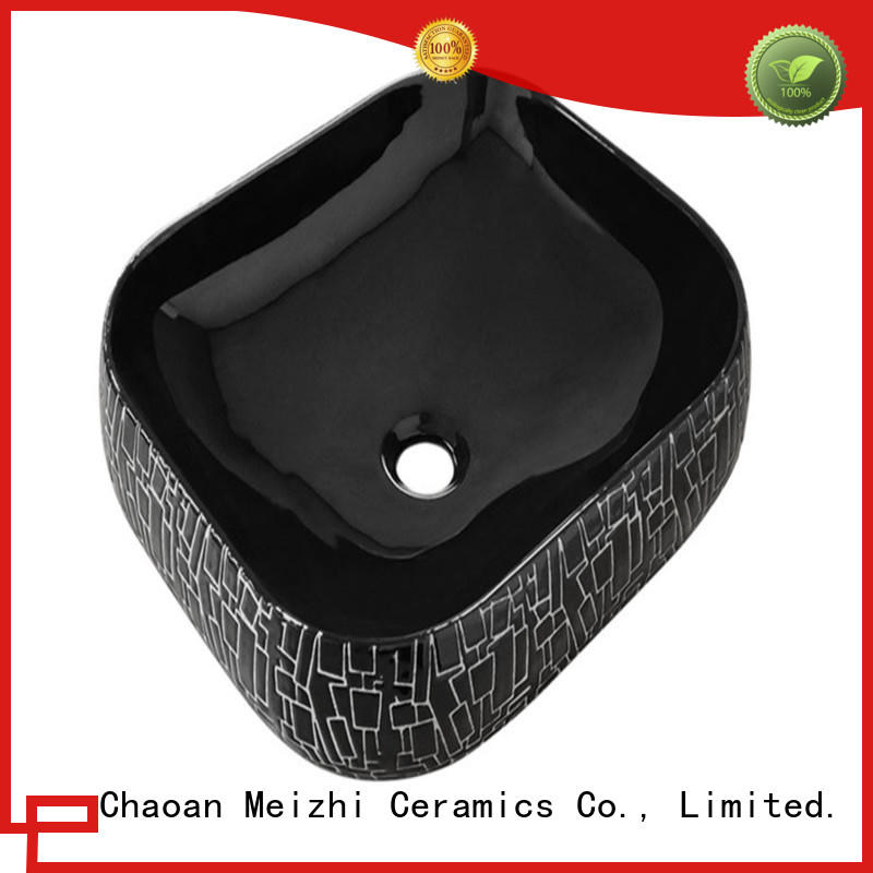 Meizhi creative basin black factory for bathroom