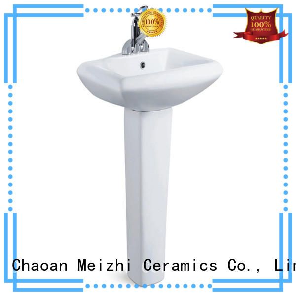 bathroom pedestal basin with good price for home Meizhi