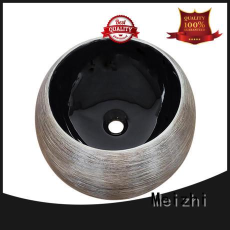 Meizhi black basin custom for washroom