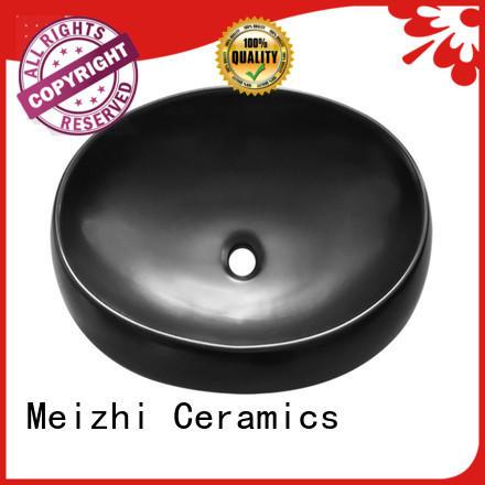 Meizhi black sink basin manufacturer for washroom