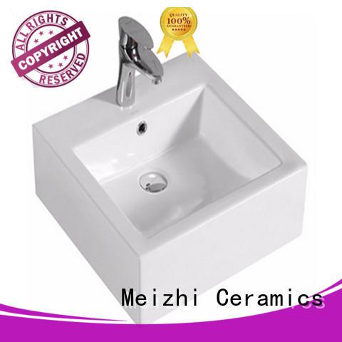 Meizhi printed wash basin size customized for washroom