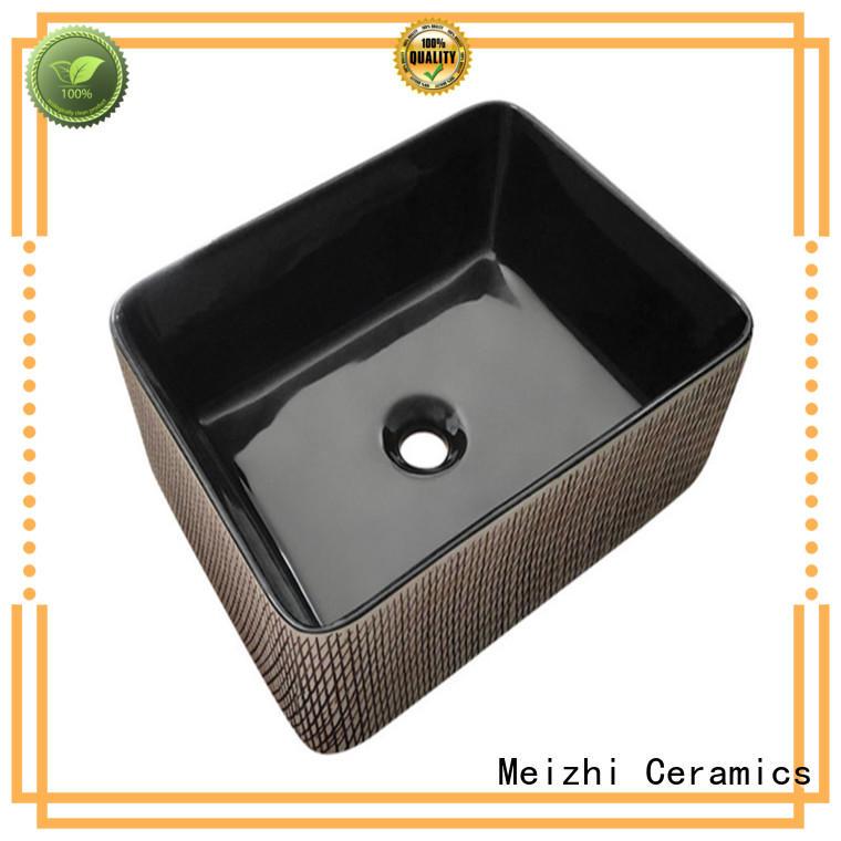 Meizhi modern basin black wholesale for hotel