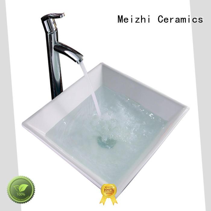 Meizhi white art basin factory price for bathroom