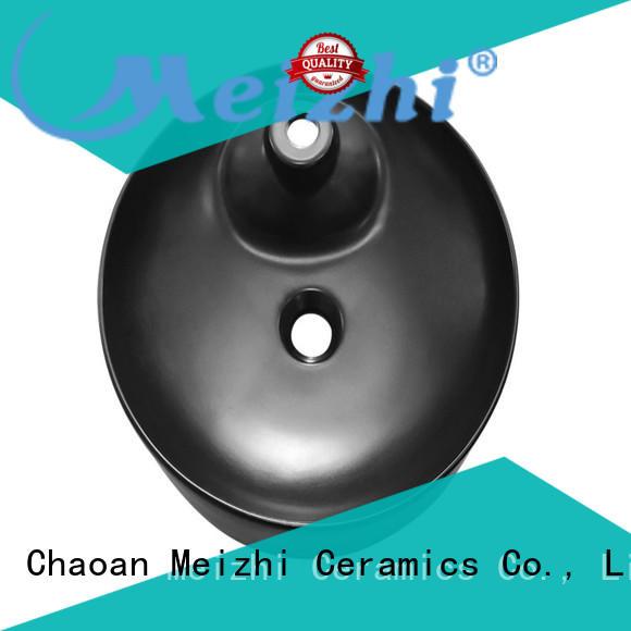 Meizhi black sink basin supplier for washroom