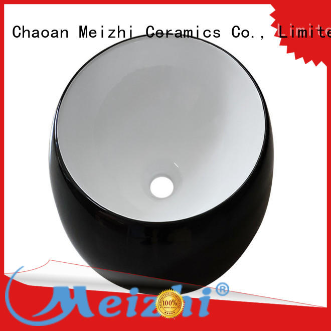 creative black sink basin factory price for washroom