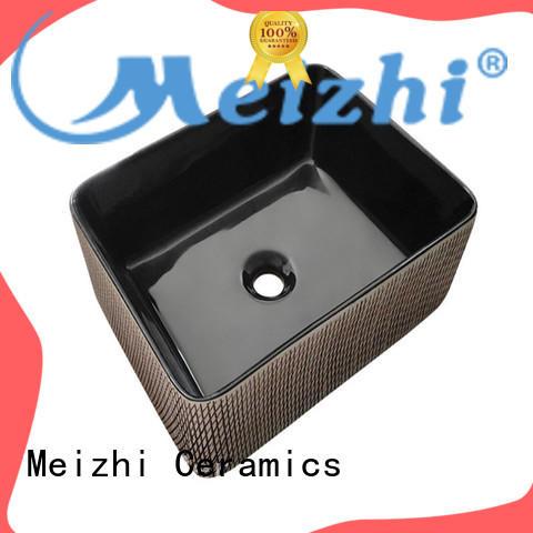 Meizhi black bathroom basin wholesale for cabinet