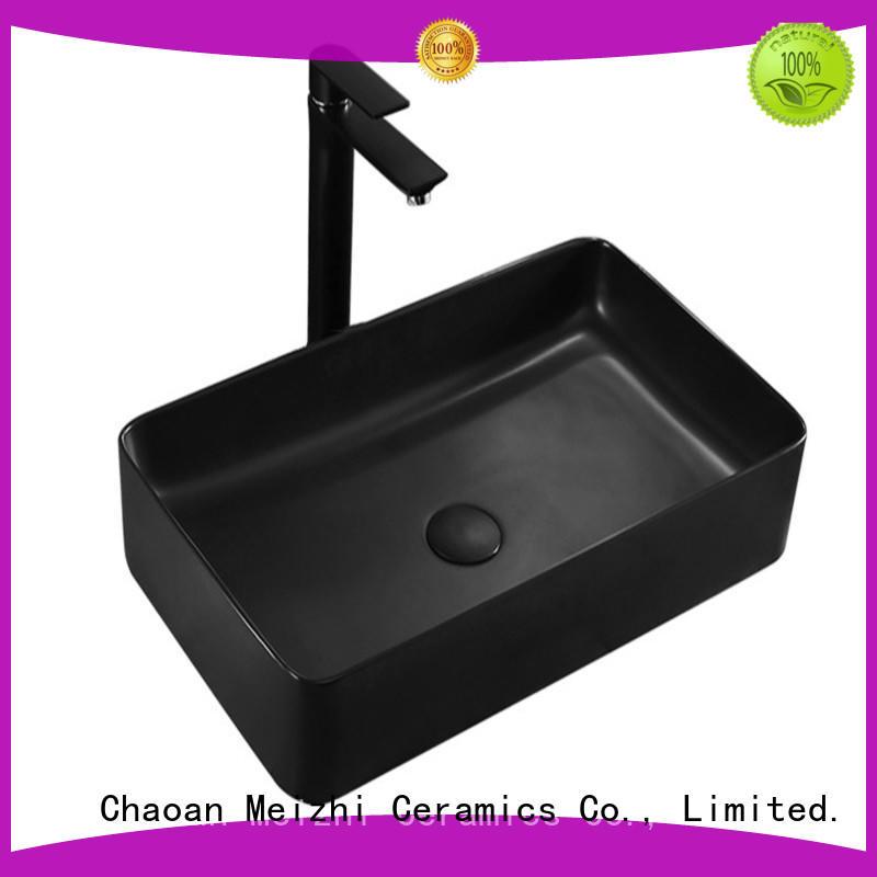 Meizhi black bathroom basin supplier for cabinet