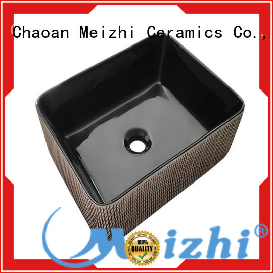 ceramic black bathroom sink factory price for washroom