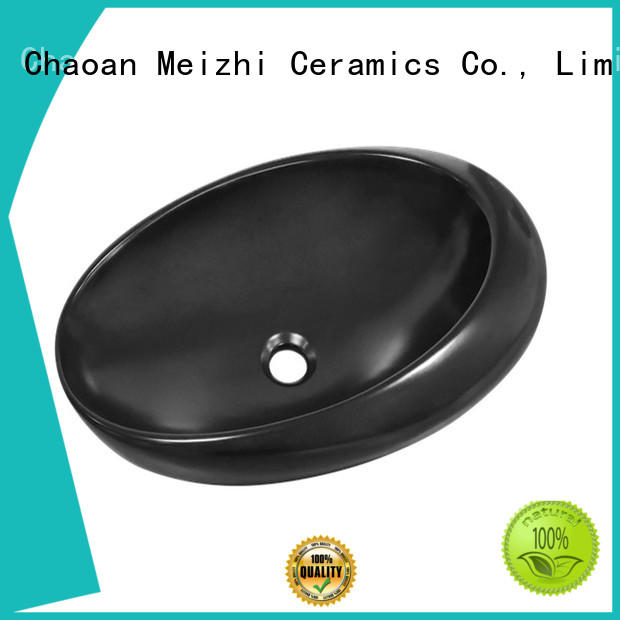 Meizhi modern black bathroom basin factory price for hotel