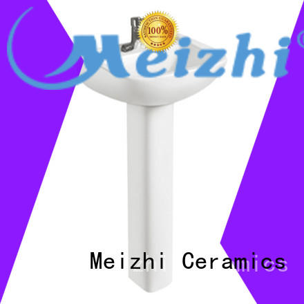 Meizhi full pedestal basin supplier for washroom