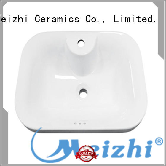 Meizhi counter top basins supplier for hotel