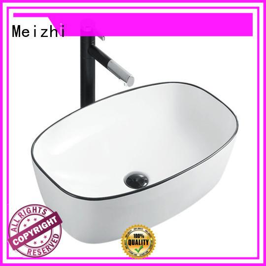 Meizhi creative black bathroom sink factory price for hotel