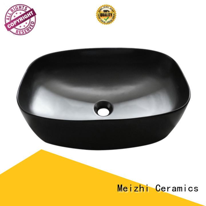 Meizhi high quality black basin manufacturer for washroom