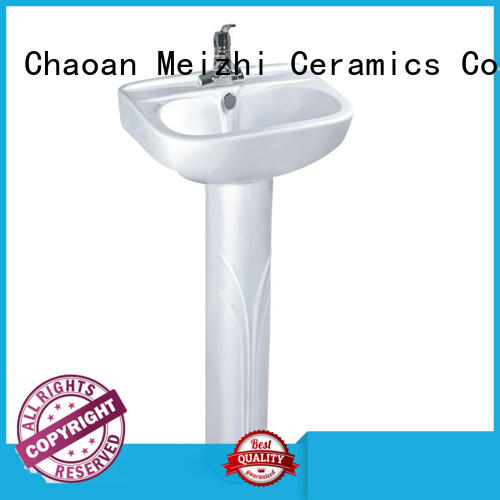 Meizhi contemporary basin and pedestal wholesale for home
