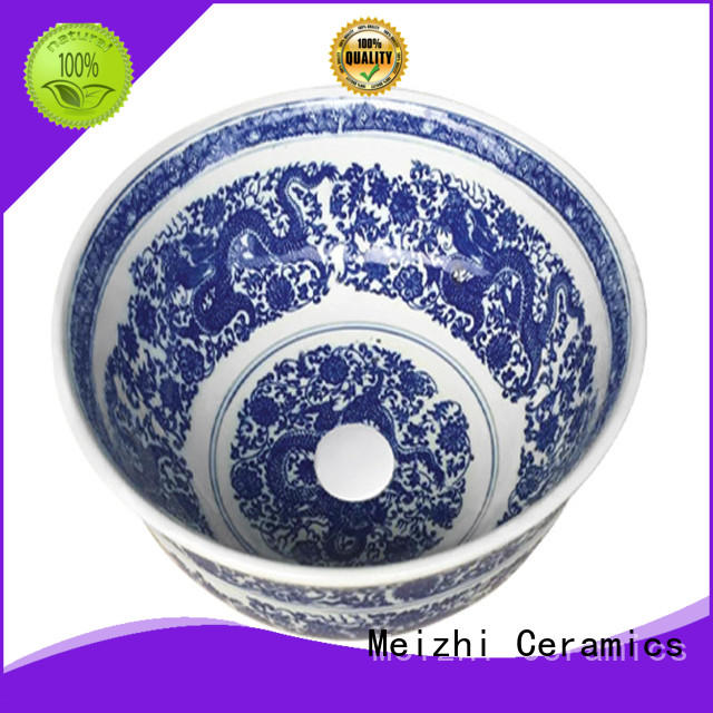 Meizhi printed sink basin wholesale for washroom