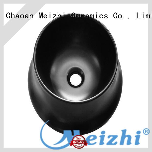 Meizhi high quality black bathroom sink manufacturer for cabinet