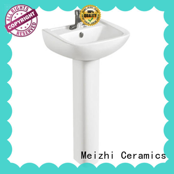 Meizhi half pedestal basin customized for bathroom