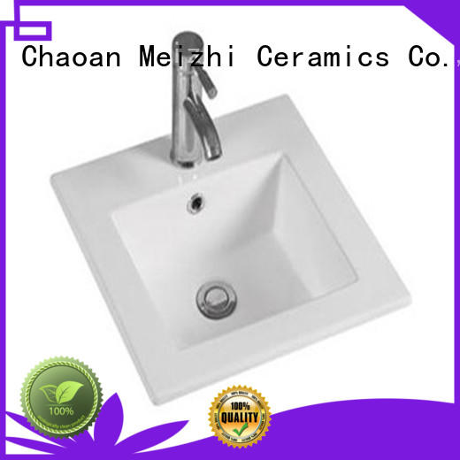 Meizhi ceramic bathroom wash basin manufacturer for hotel