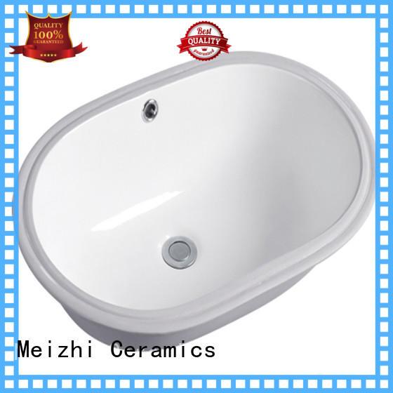 Meizhi ceramic round countertop basin customized for hotel