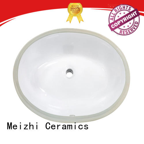 Meizhi round countertop basin manufacturer for washroom