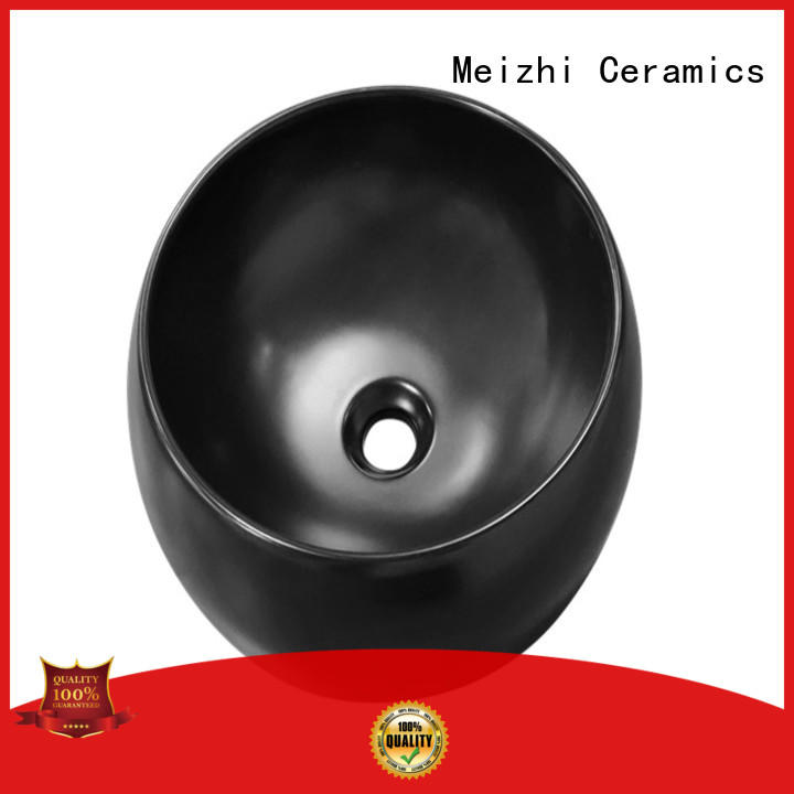 Meizhi black basin factory for washroom
