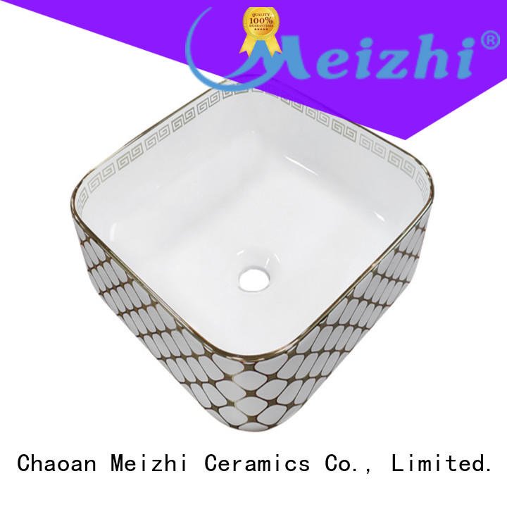 printed ceramic wash basin directly sale for hotel