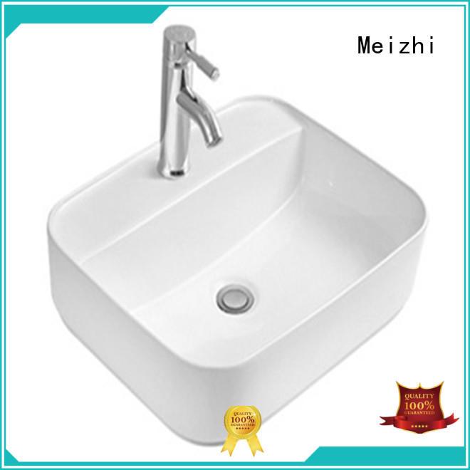 Meizhi white round wash basin supplier for hotel