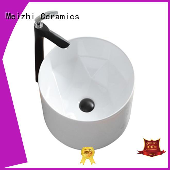 Meizhi elegant round ceramic basin for washroom