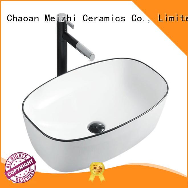 Meizhi black basin manufacturer for bathroom