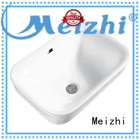 Meizhi ceramic countertop basin unit customized for hotel