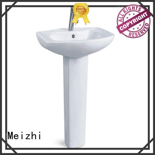 pedestal hand basin for washroom Meizhi