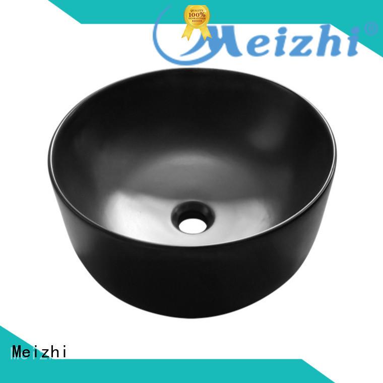 Meizhi ceramic black sink basin factory price for cabinet